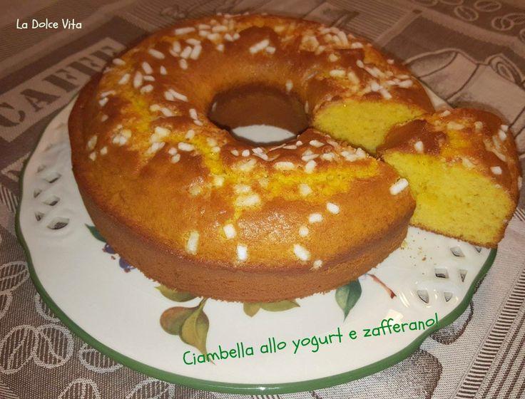 #ciambella allo #yogurt con #zafferano!