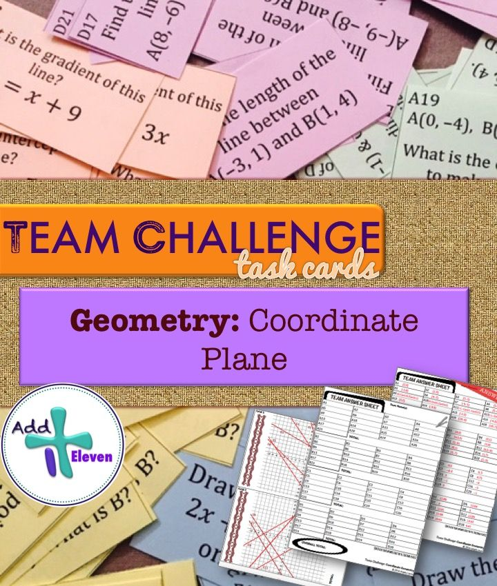 Coordinate Geometry Team Challenge Task cards- great for getting students to work collaboratively and practicing core skills!
