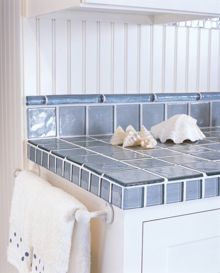Ideas about modern bathrooms on pinterest modern bathroom design - Image Gallery Of Recycled Glass Tile Counters Kitchens