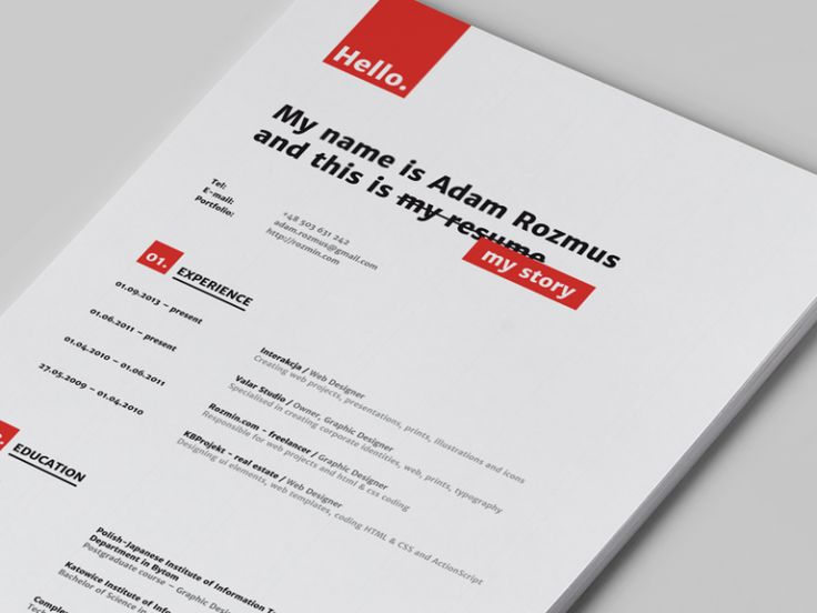 36 best inspired ▹ resumes images on Pinterest Creative - resume examples graphic design