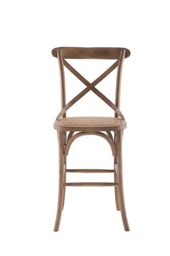 French Cross Breakfast Stool Oak Stain - Products - 1825 interiors