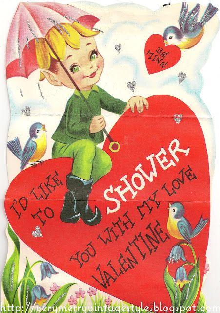 Very Merry Vintage Syle: Sweet Elf & Bluebirds {Vintage Valentines}