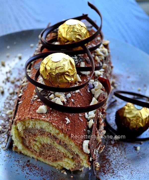 "Bûche au chocolat facile ""façon Ferrero"""
