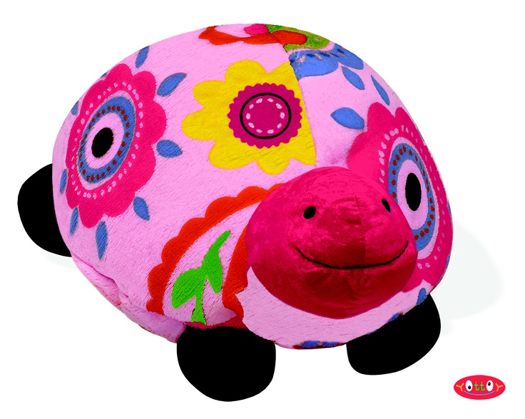 "Trey Turtle Soft Toy 8""  These soft toys, made of super soft colorfully printed velour with embroidered and hand-sewn details, are perfect for hugging, holding and gift giving!   Trey the Turtle is proud of the flower bedecked home he carries everywhere.    Item #84306  $17.00"