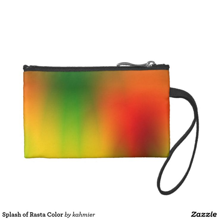 Splash of Rasta Color Change Purse 15% Off #zazzle www.leatherwooddesign.com
