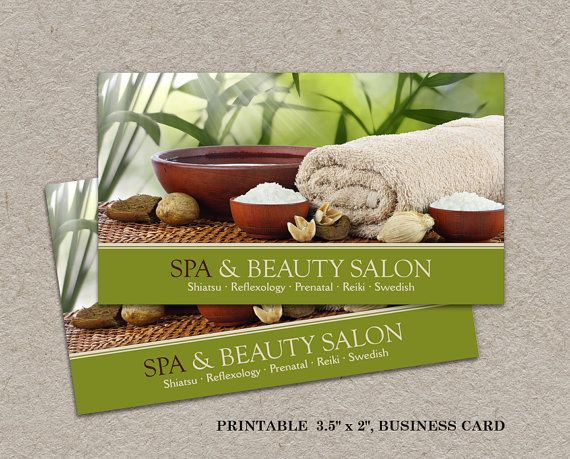41 best business cards images on pinterest carte de visite spa business card salon business card printable spa business card diy spa salon business cards reheart Images
