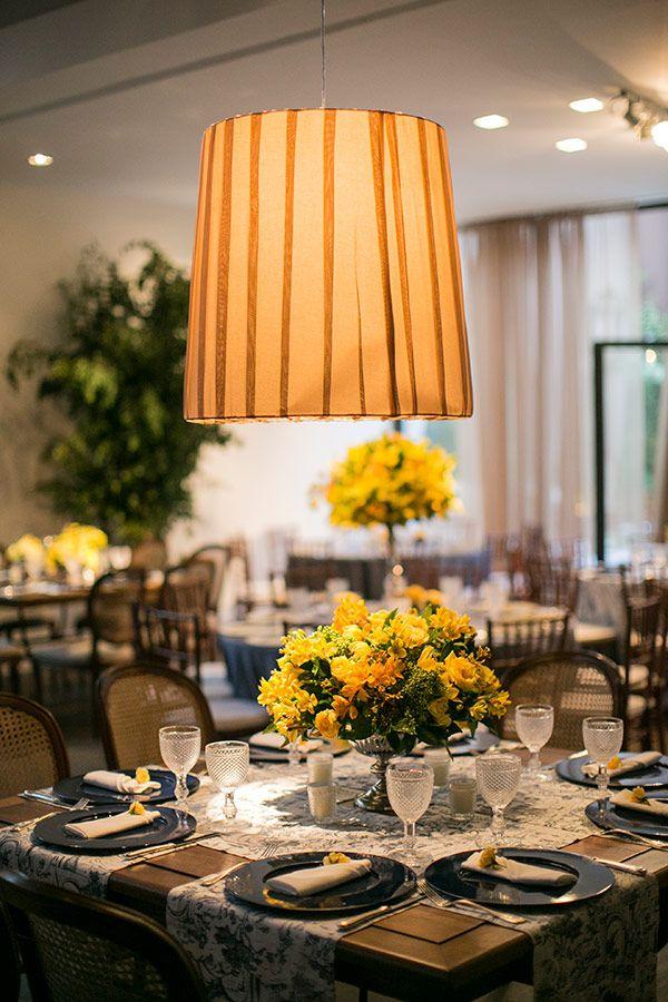Decoração de casamento - Amarelo e azul  ( Foto: Roberto Tamer | Decoração: Mariana Bassi )