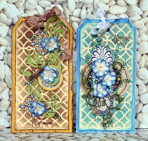 ScrapBerry's: Two awesome mixed media tags made by Denise van Deventer