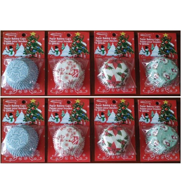 Baking MAGIC - x'Mas Baking Cups $1.39  Langham Mall Unit 2333 & 2335 Level 2, 8339 Kennedy Road, Markham, Ontario, Canada  www.OneOfAKaIND.com