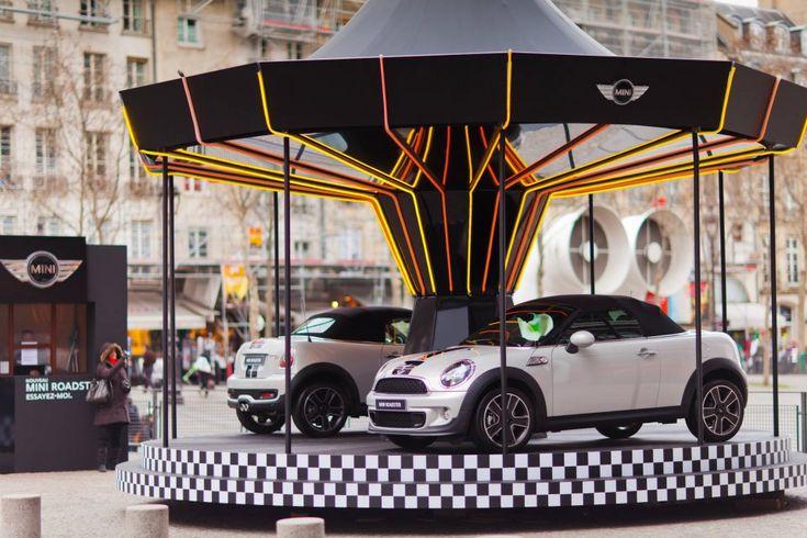 The MINI Roadster merry-go-round, courtesy of MINI France.