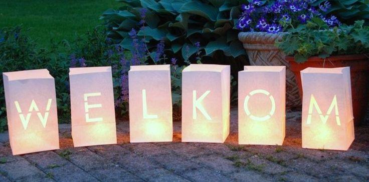 Bruiloft Candle bags: Welkom