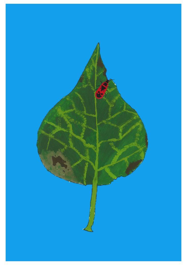 Insekten und Blätter www.gestaltungsbox.com