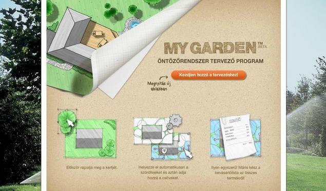 A GARDENA öntözéstervező segítségével az adott kert igényeinek megfelelően kialakított fix telepítésű, teljesen automatikus süllyesztett öntözőrendszert tervezhet a GARDENA Sprinklersystem felhasználásával.
