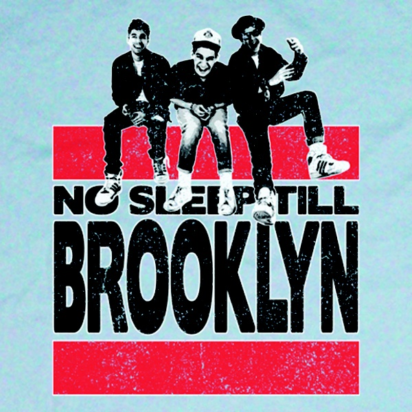 Beastie Boys No Sleep 'Till Brooklyn T-Shirt Design. Available in Mens, Womens and Kids sizes.
