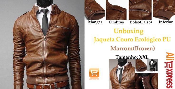 #3 Unboxing Jaqueta Couro PU Masculino - AliExpress