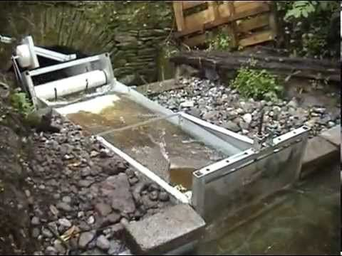 BTTF water technology - In-stream water turbine (hydropower, microgeneration) - YouTube