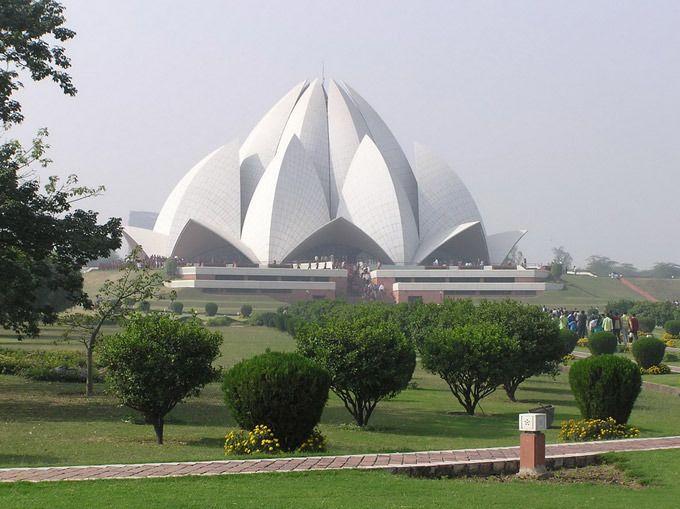 Индия Храм Лотоса. Нью-Дели