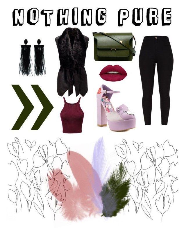 """Lo"" by amandalowenborg on Polyvore featuring Iron Fist, Oscar de la Renta, Huda Beauty, Blume and Marni"