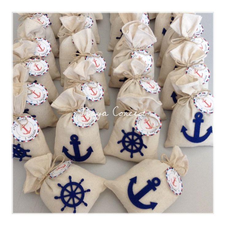 Denizci Temalı Lavanta Keseleri / Marine Themed Lavender Sachets