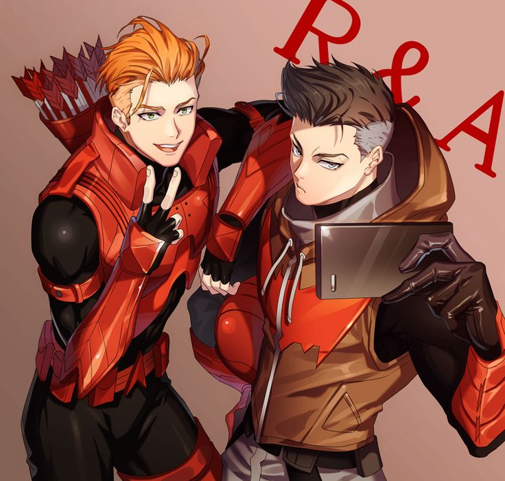 Redhood & Arsenal cute!