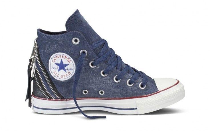 Converse All Star Tri Zip HI Azul marino | Landed Tienda Online 23,99 #converse…