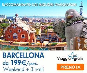 Vola Gratis ti offre week-end 3 notti a Barcellona a partire da 199 euro a persona