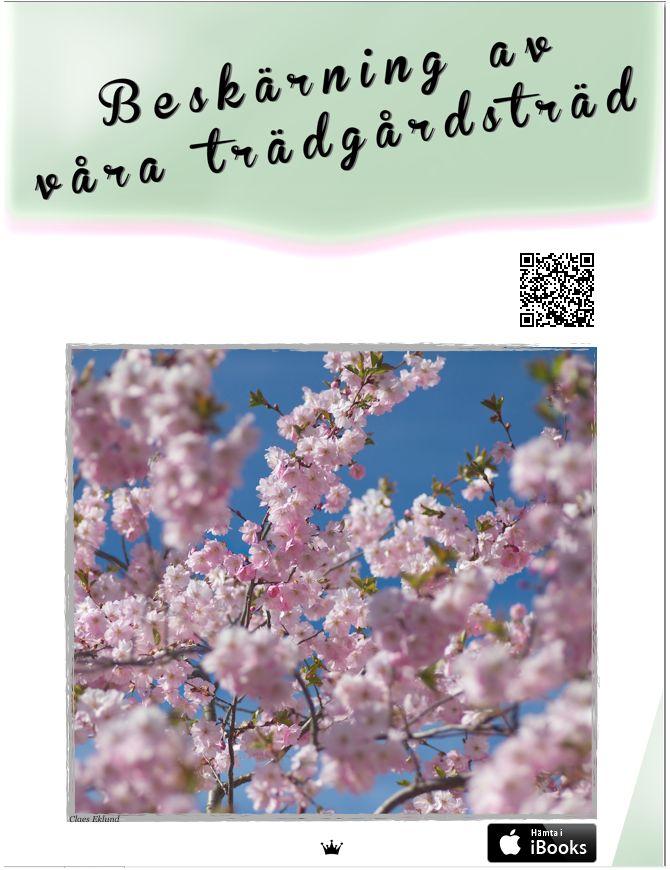 Det här är boken som klart, tydligt och instruktivt beskriver hur man går tillväga med beskärningen av träden i trädgården. Lämpliga redskap, beskärningens grunder, uppbyggnads- och underhållsbeskärning, föryngring av gammal trädgård allt finns med.  Avsikten med den här boken är att ge dig som trädgårdsodlare lite mer kött på benen. Här vill vi dela med oss av goda råd och tips om hur du ska kunna beskära träd i trädgården på bästa sätt.
