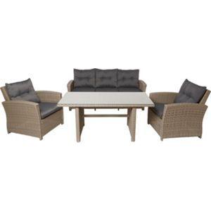 Ravello Rattan Effect Garden Furniture Set