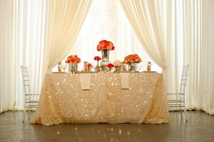 bhldn wedding table sparkle