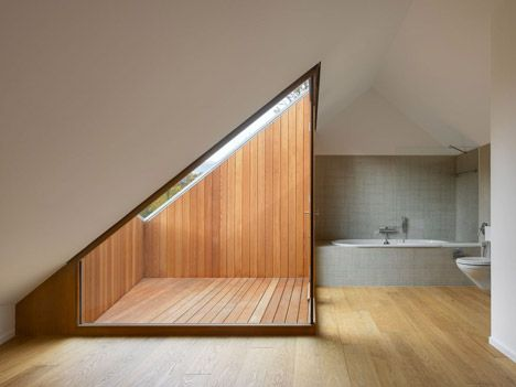 Create a terrace without projecting out of the roofline.  www.methodstudio.london