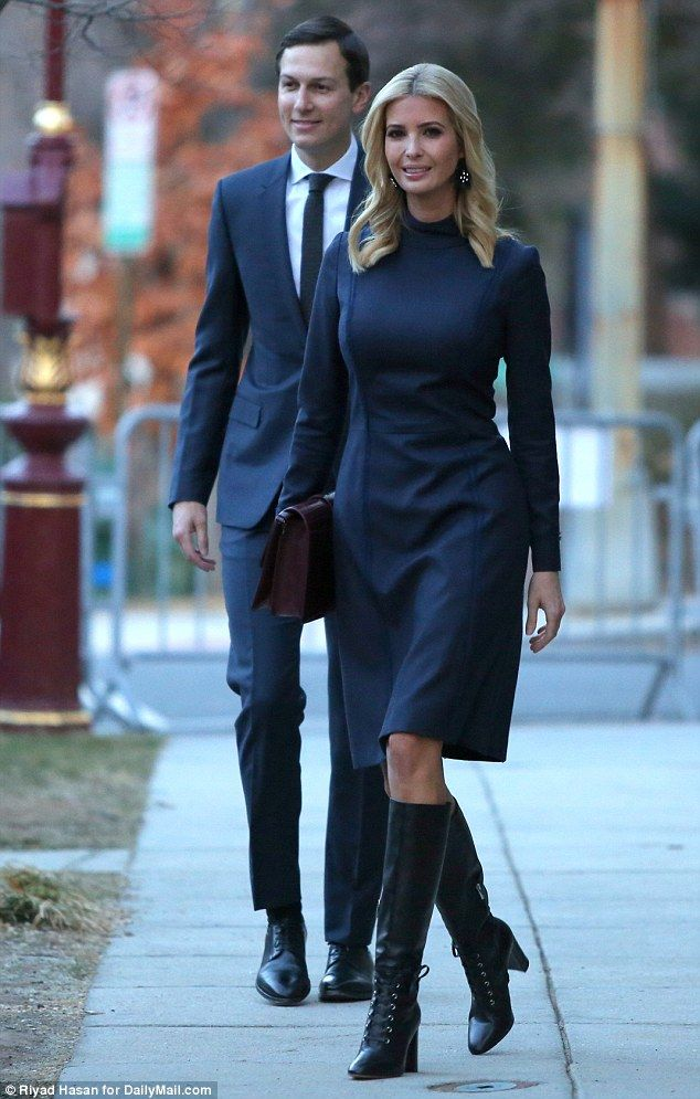 Ready! Ivanka Trump left for work with Jared Kushner on Thursday morning. What Ivanka is wearing today. Feb 8 2018. Boots