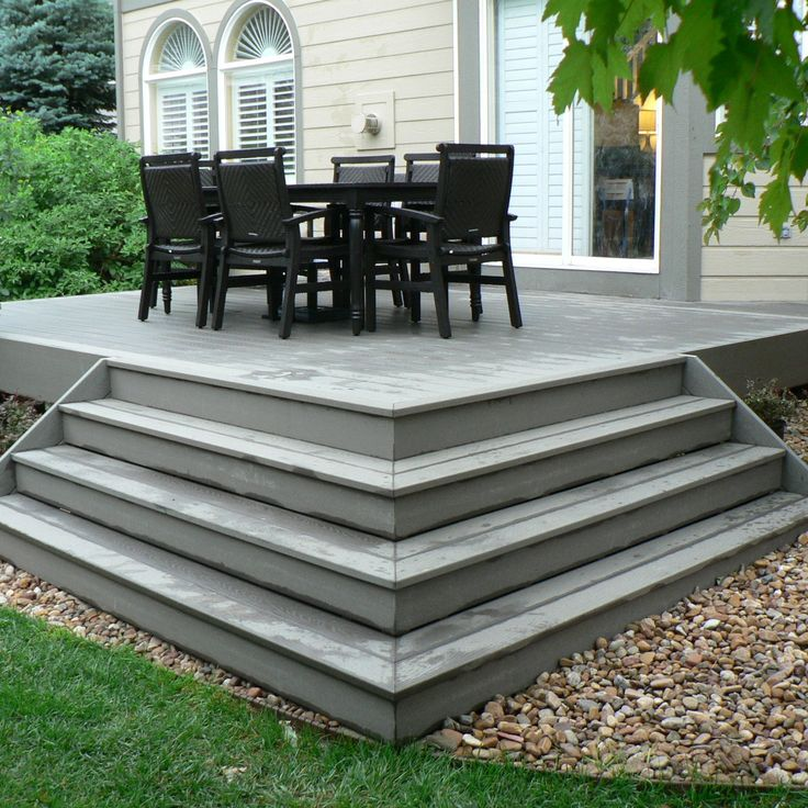 Concrete Stairs Design Ideas Home Stair Picture Exterior: Pictures Of Composite Decks And Steps