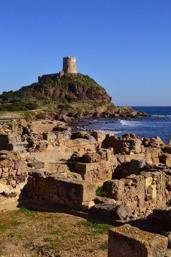 The ancient ruins of Nora in Pula, Sardinia - L'antica città di Nora, centro fenicio-punico e romano a capo di Pula in Sardegna www.betogo.com
