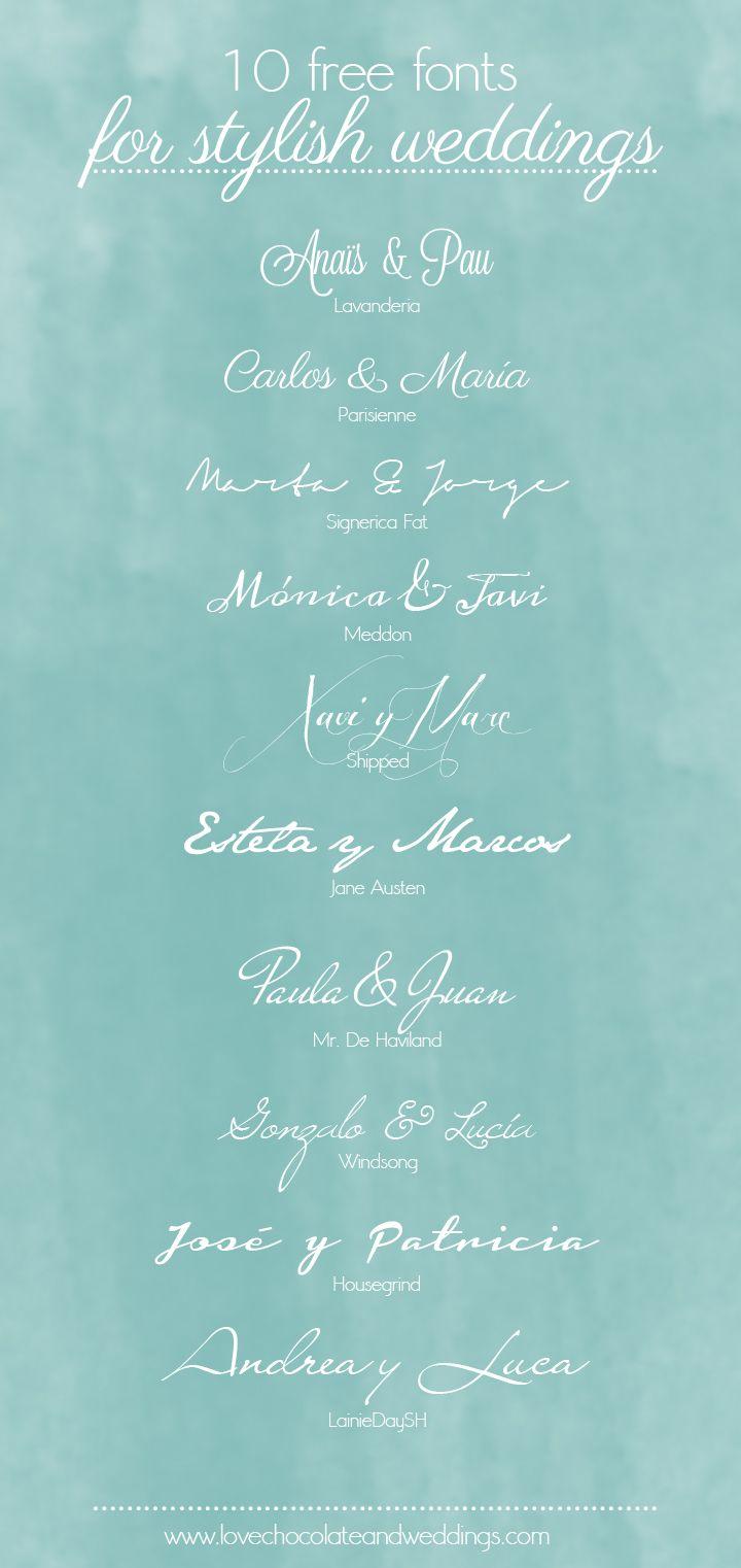 Fuentes para tu boda | Love Chocolate and Weddings