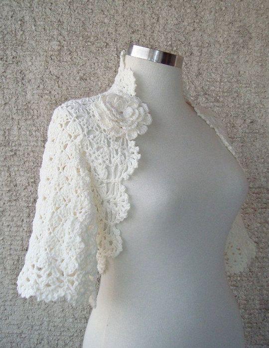 White Openwork Bolero crochet inspiration