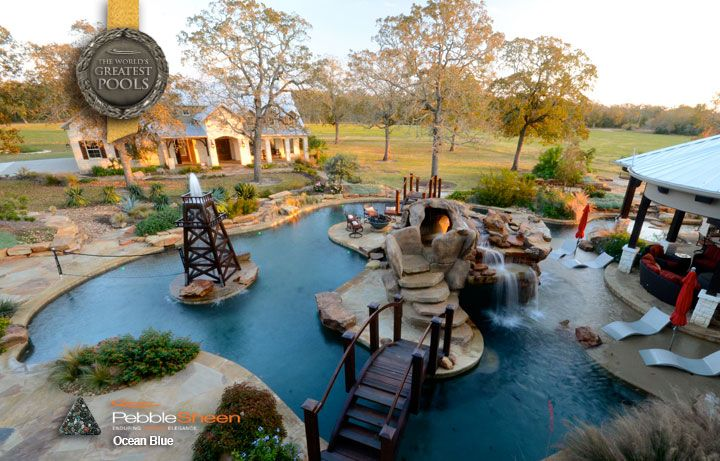 Island designed pools custom design pools houston tx for Pool design houston tx