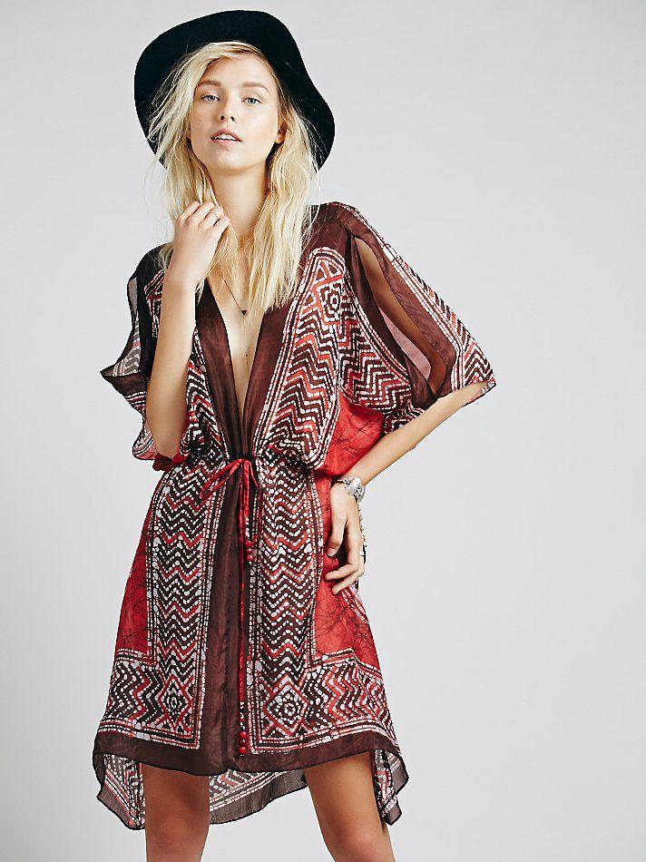 Lotta Stensson Batik Cascading Dress at Free People Clothing Boutique