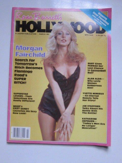 Hollywood March 1981 Morgan Fairchild Farrah Fawcett Katharine Hepburn Al Alda