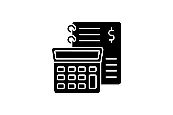 Financial Accounting Glyph Icon Financial Accounting Glyph Icon Glyphs