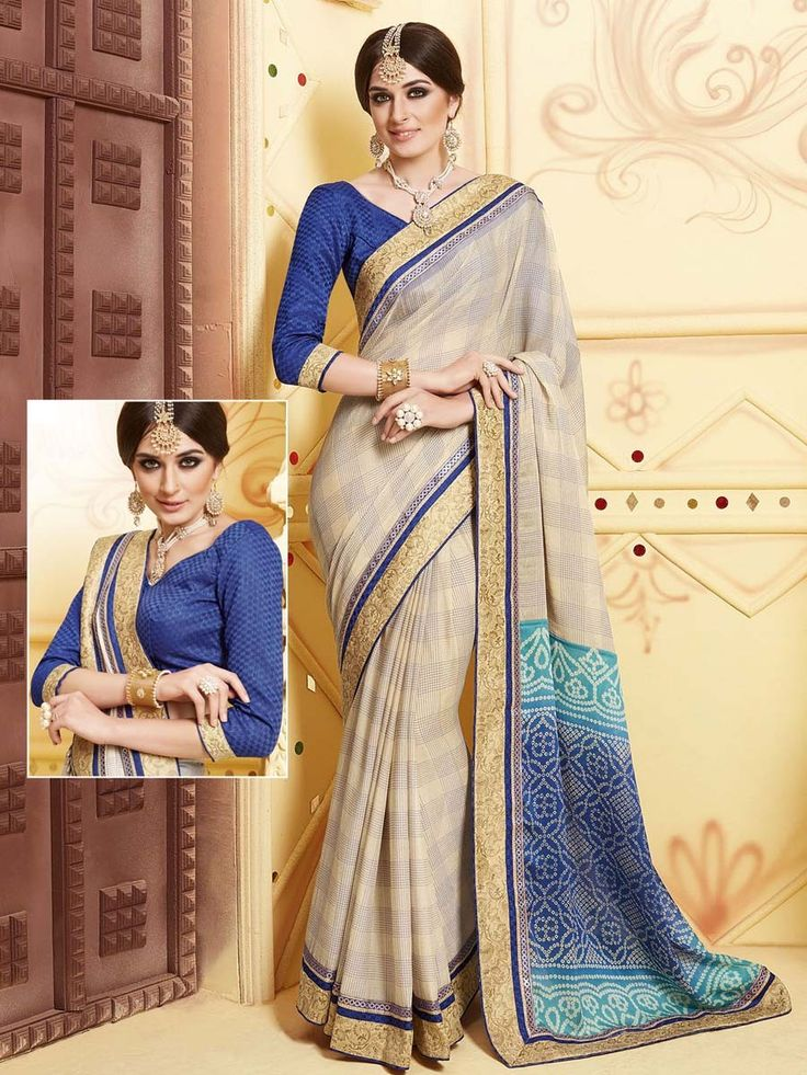 Be in fashion anywhere by wearing this beautiful outfit.  Item Code: SSVH6664 http://www.bharatplaza.com/new-arrivals/sarees.html