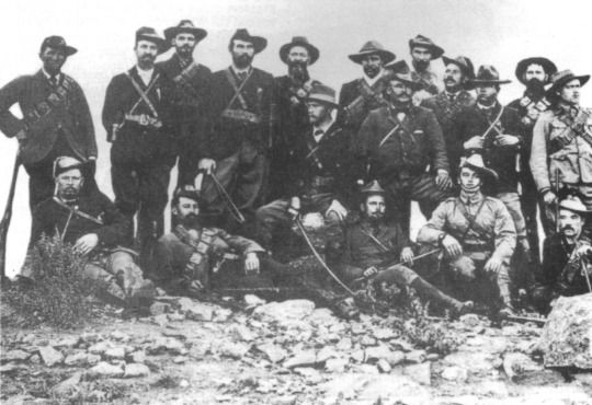 Future Prime Minister of South Africa Jan Smuts and his commandos during the Boer War.