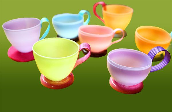 plastic tea cups party supplies | How to Make Tea Cups with Easter Eggs « Ribbons Ribbons