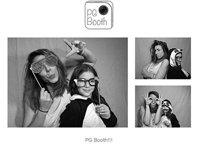 PG Booth, the best diy ipad and iphone photo booth app for parties and weddings, photo strip example with black & white setting turned on!
