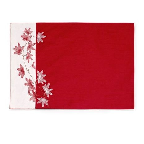 Red Embroidered Placemat