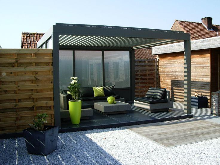 biossun benelux project terrasoverkapping pergola. Black Bedroom Furniture Sets. Home Design Ideas