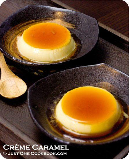 Purin (Japanese Style Creme Caramel) | Easy Japanese Recipes at JustOneCookbook.com