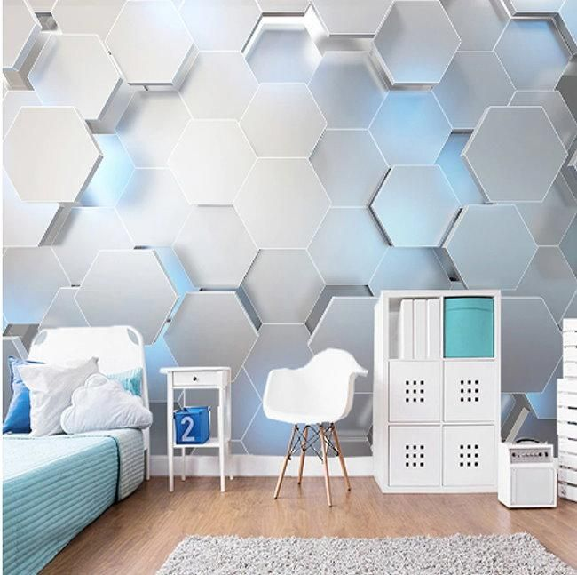 Stylish 3d Polygon Geometric Shapes Wallpaper Home Or Business Wall Painting Living Room Modern Wall Paint Custom Photo Wallpaper