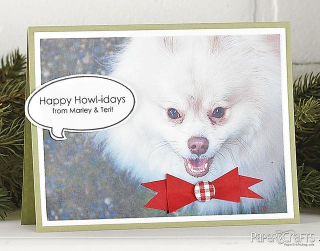 Happy Howl-idays Card by @Teri Anderson