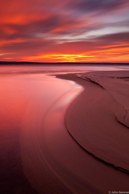 Sunrise over West Grand Traverse Bay by Pure Michigan, via Flickr