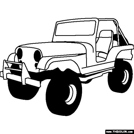 Jeep CJ Coloring Page